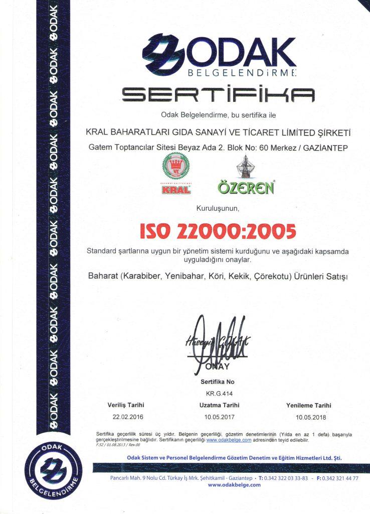 iso sertifika 22000